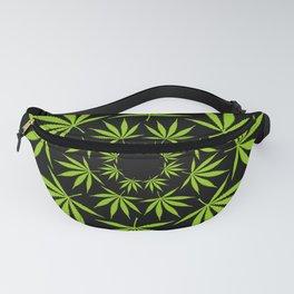 Cannabis Leaf Circle (Black) Fanny Pack