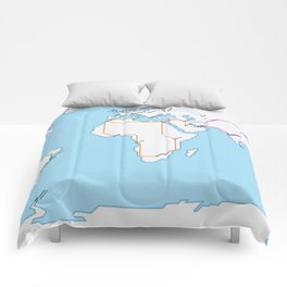 Rail Map of the World Comforters