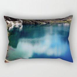 lake in mountains Rectangular Pillow