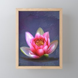 Lotus Flower Framed Mini Art Print