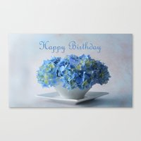 hydrangea Canvas Prints featuring Hydrangea by Fine Art by Rina