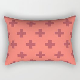 Swiss Cross Retro Red Rectangular Pillow