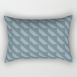 Simple Geometric Pattern 4 in Teal Rectangular Pillow