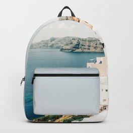 Beautiful View of Santorini, Greece Backpack