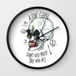 Riot Grrrl Wall Clock