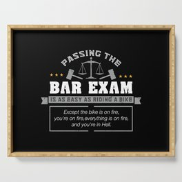 Passing The Bar Exam Is Easy As Riding A Bike For Lawyers Serving Tray