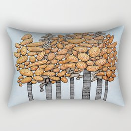 Birch Tree Stand Rectangular Pillow