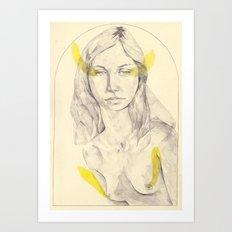 yellow wip Art Print