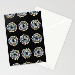 Flowers 3D Multicolore Artwork A16 Stationery Cards