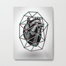 Captured Heart Metal Print