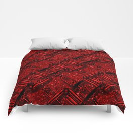 Charming shiny Chains, red Comforters