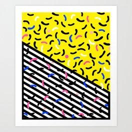 80s pop art 003 Art Print