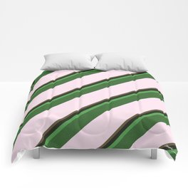 Pink Roses in Anzures 2 Stripes 5D Comforters
