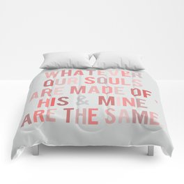 Love Quote Poster Comforters