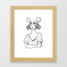 Little Hearts Demon Framed Art Print