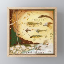 Fishing Tackle Framed Mini Art Print