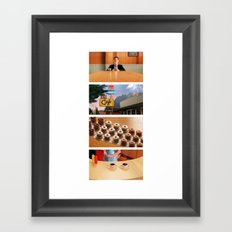 Coffee and donuts time Framed Art Print