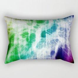 Retro, Boho Chic Tye-Dye Pattern Rectangular Pillow