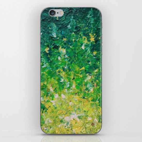 LAKE GRASS - Original Acrylic Abstract Painting Lake Seaweed Hunter Forest Kelly Green Water Lovely iPhone & iPod Skin
