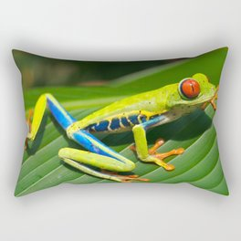 Green Tree Frog Red-Eyed Rectangular Pillow