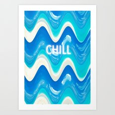 CHILL BEACH WAVE Art Print