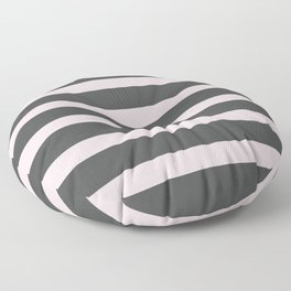 Pastel Pink on Gray Background Floor Pillow