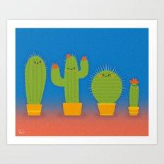 The littlest cactus Art Print