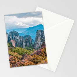 Monastery in Meteora, Greece Stationery Cards