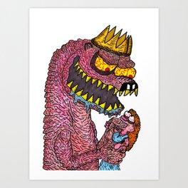 Naked Mole-King Art Print