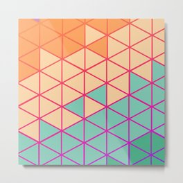 Hexagon Colors - Seashell Metal Print
