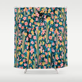 MELTED FLOWERS Shower Curtain