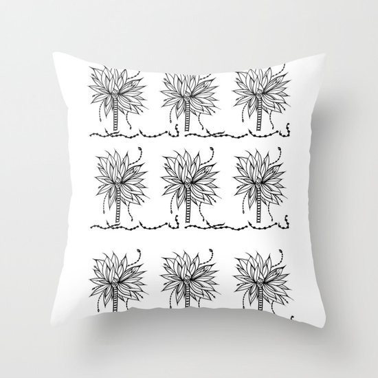 Super Banana Tree Throw Pillow