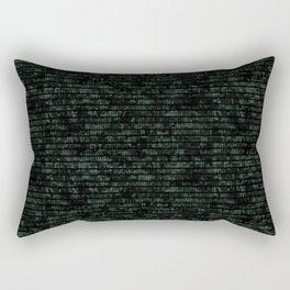 Light Green Dna Data Code Rectangular Pillow