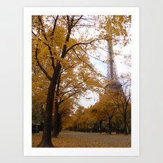 Paris in Fall Art Print
