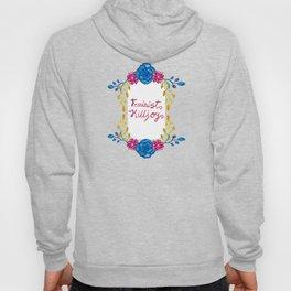 Bright Feminist Killjoy Floral Print Hoody