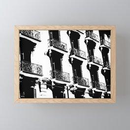 Barcelona facade Framed Mini Art Print