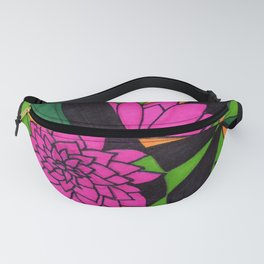 Floral Psychedelia Fanny Pack