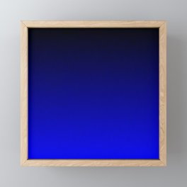 Midnight Black to blue ombre flame gradient Framed Mini Art Print