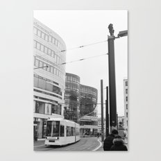 Trams Through Dusseldorf Canvas Print