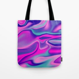 Liquid Bold Vibrant Colorful Abstract Paint in Blue, Pink and Purple Tote Bag