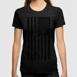 Black American Flag T-shirt