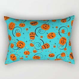 Halloween Magic- Turquoise Rectangular Pillow