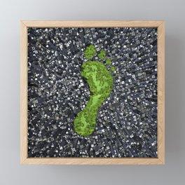 Carbon footprint Framed Mini Art Print