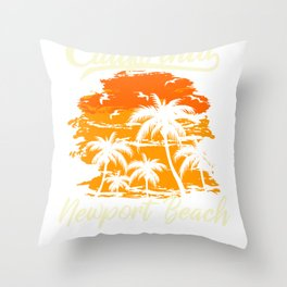 Newport Beach California Throw Pillow
