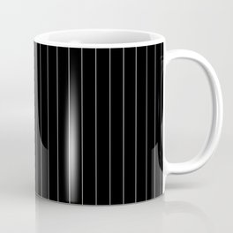 Black White Pinstripes Minimalist Coffee Mug