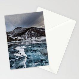 olkhon island ice lake Stationery Cards