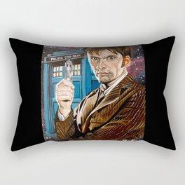The Tenth Doctor and His TARDIS Rectangular Pillow