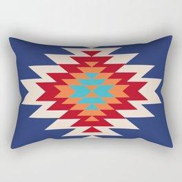 Tribal Love in Blue Rectangular Pillow
