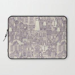 vintage halloween purple ivory Laptop Sleeve
