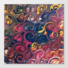 PAINT SWIRLS Canvas Print